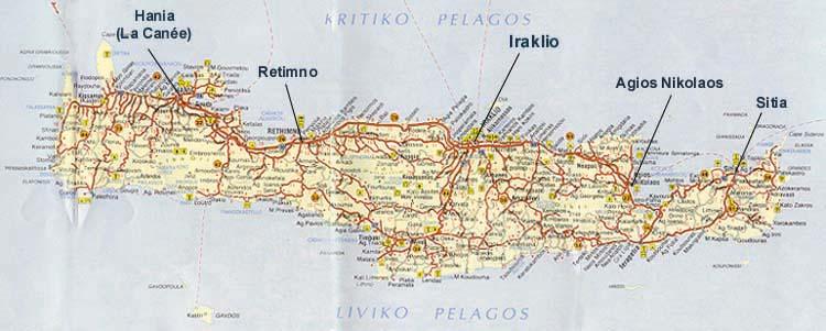 Carte Routiere Crete En Francais.Carte De Crete A Imprimer Effegetangesj