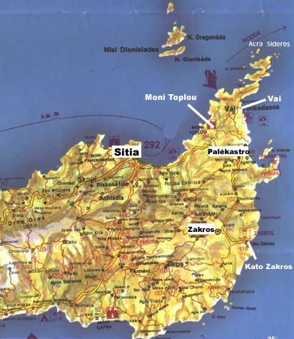 Carte Crete Sitia.Maps
